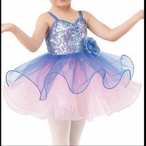 Weissman Blue & Pink Ballerina Dance Costume CXS